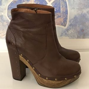 Lucky Brand Leather Ankle Booties Size 7.5 M